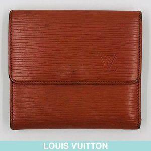 Louis Vuitton Epi tri-fold leather wallet VINTAGE